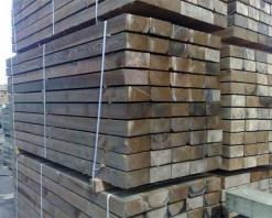 Brown Softwood Sleeper(L)1200x(W)250x(H)125mm-0