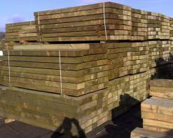 Green Softwood Sleeper (L)1200x(W)200x(H)100mm-0