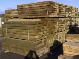 Green Softwood Sleeper (L)2400x(W)250x(H)125mm-0