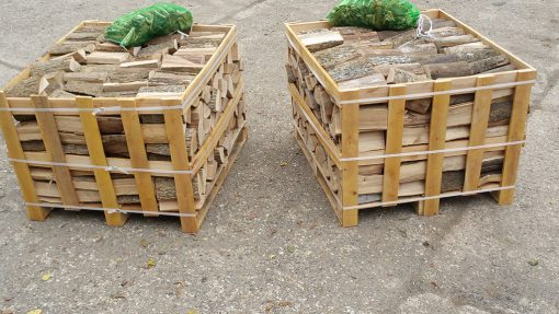 Kiln-Dried Ash Crate of Logs (0.8M Crates x 2)-0