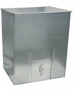 Large Galvanised Coal Bunker-0