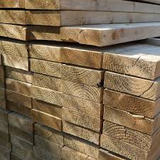 Green Softwood Sleeper (L)2400x(W)200x(H)50mm-0