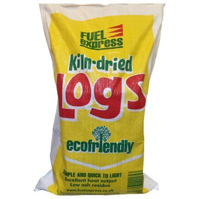 Fuel Express Kiln Dried Hardwood Logs - Large Bag approx 20kg -0