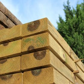 Planed & Bevelled (PAR) Green Treated Railway Sleepers 2.4m x 200mm x 100mm-0